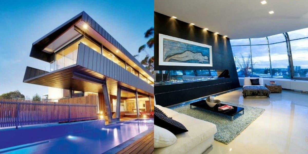 Дом в стиле хай тек: декор
