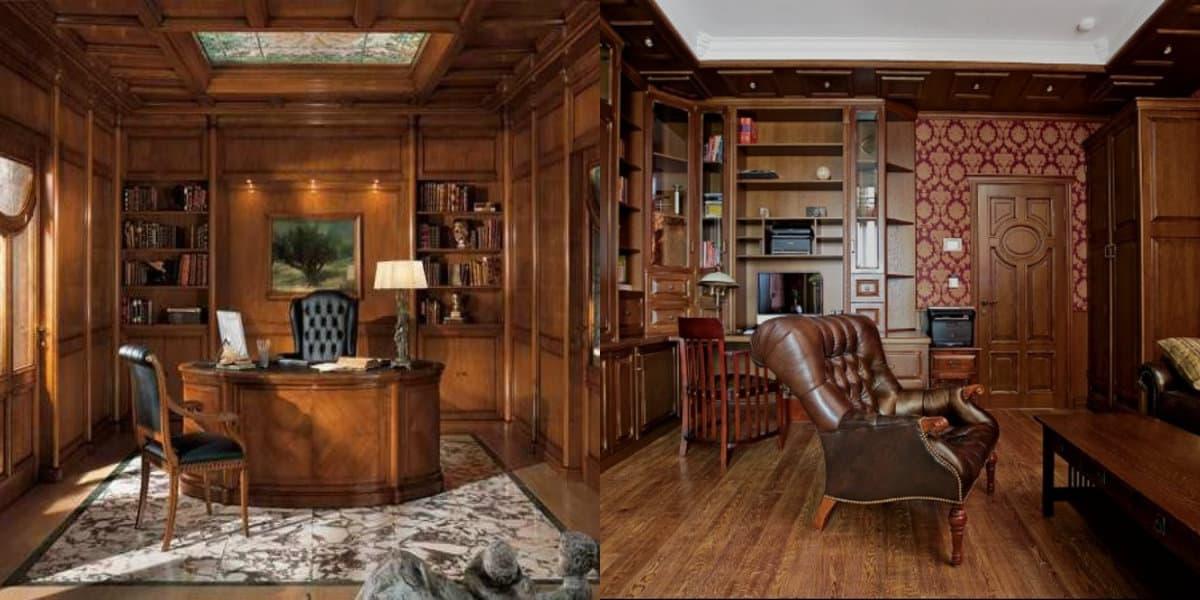 Квартира в английском стиле: кабинет