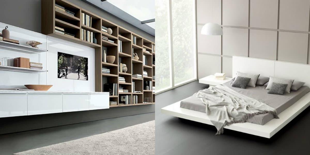 Квартира в стиле Минимализм: стеллажи