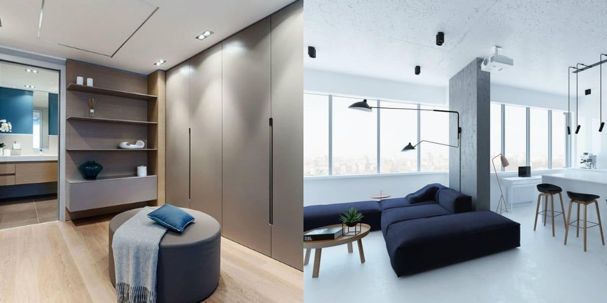 Квартира в стиле Минимализм: панорамные окна
