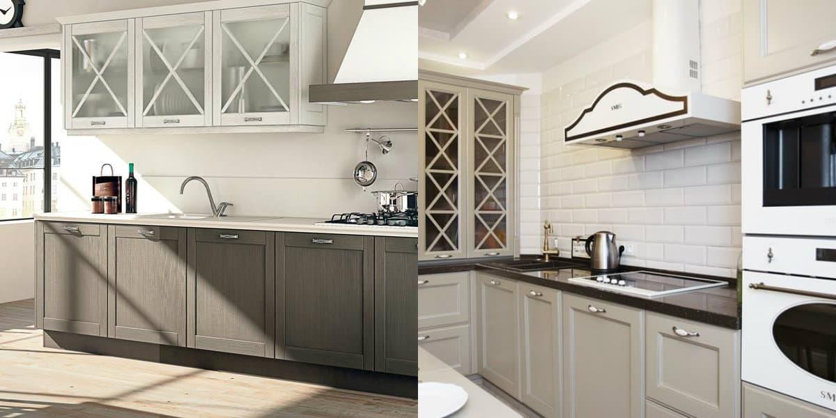 кухня в стиле неоклассика: фасады