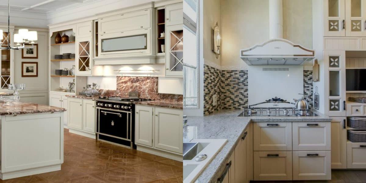 кухня в стиле неоклассика: духовка