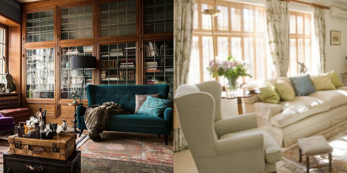 Мебель в английском стиле: ушастые кресла