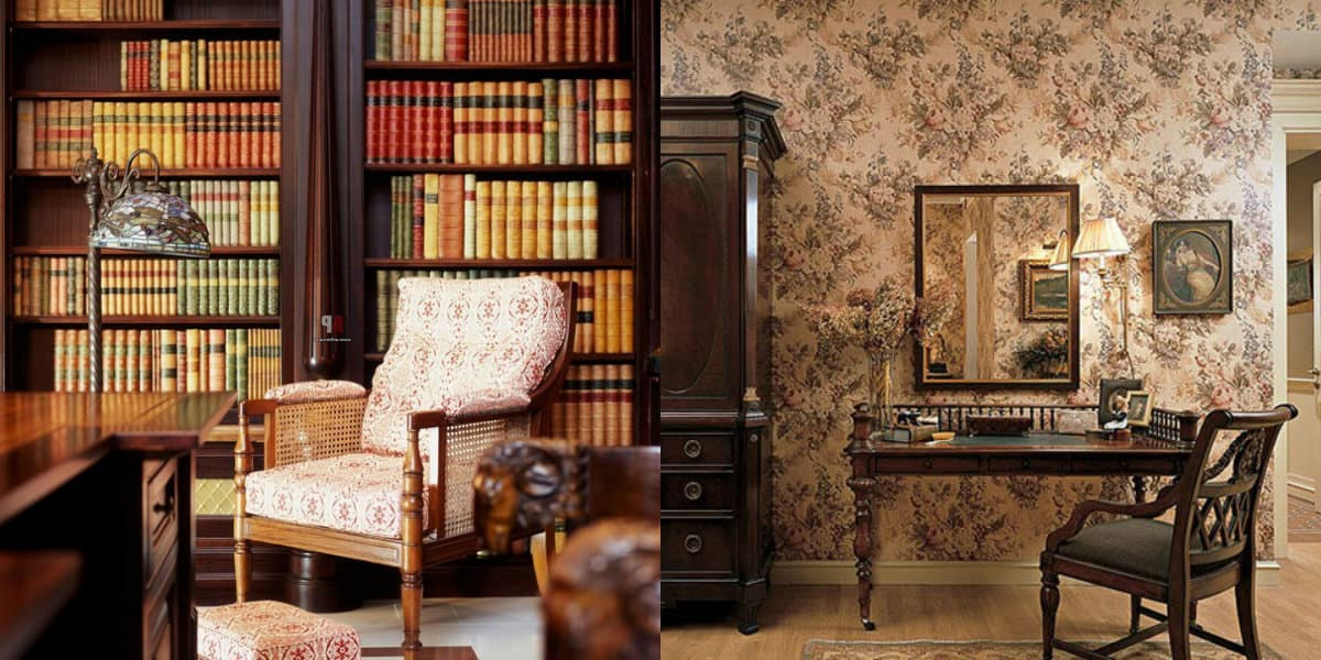 Мебель в английском стиле: книжные шкафы