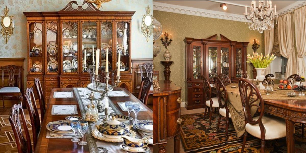 Мебель в английском стиле: буфет