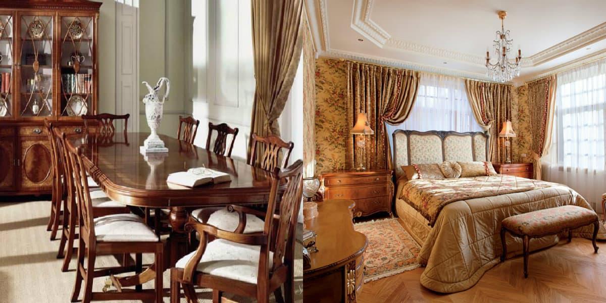 Мебель в английском стиле: кровать