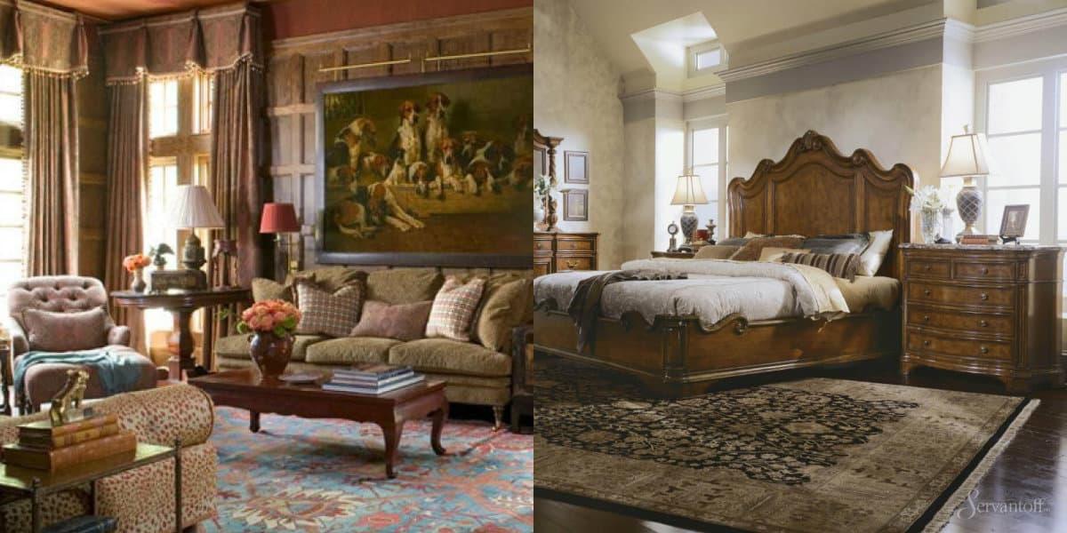 Мебель в английском стиле:комод в спальне