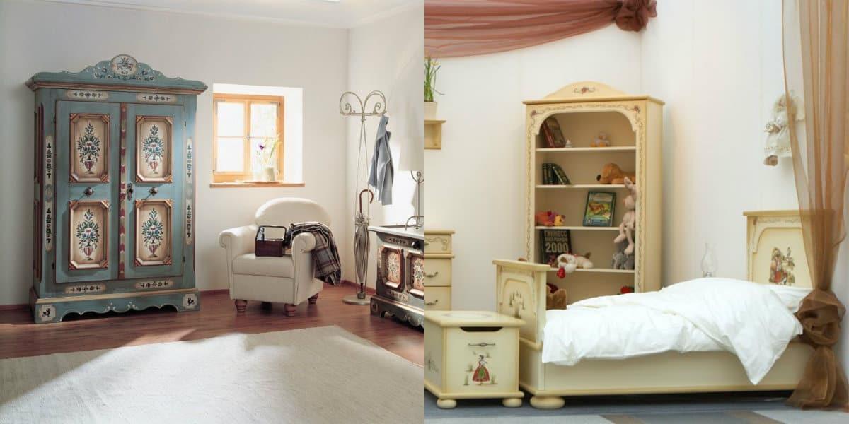 Мебель в стиле Прованс: роспись на мебели