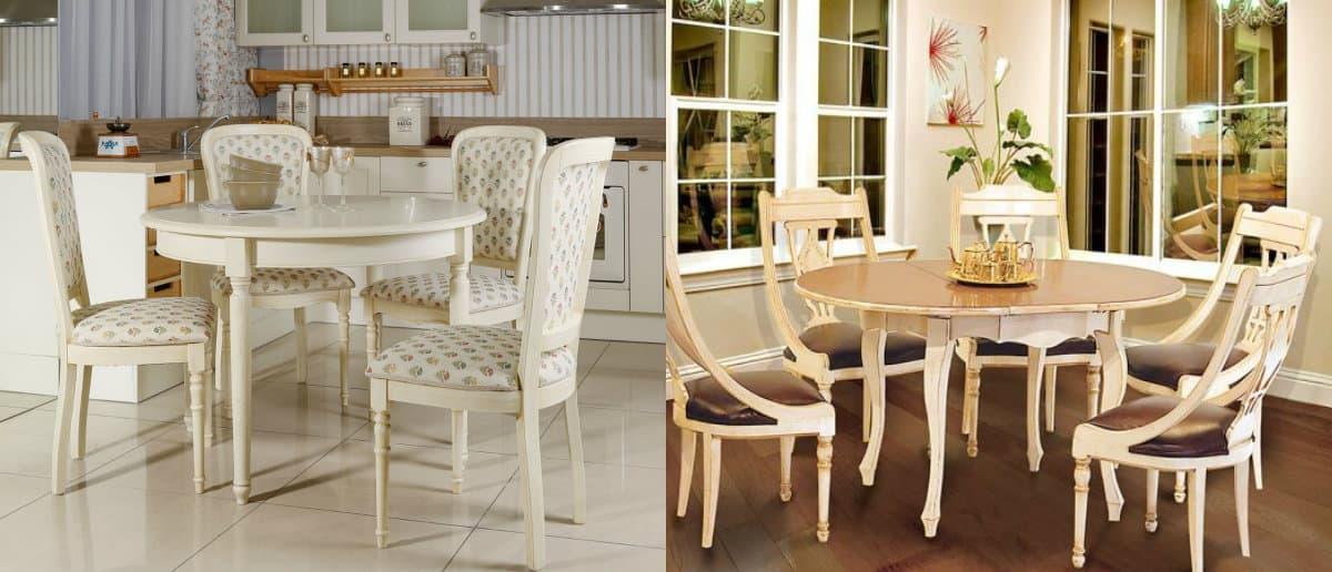 Мебель в стиле Прованс: стол и стулья
