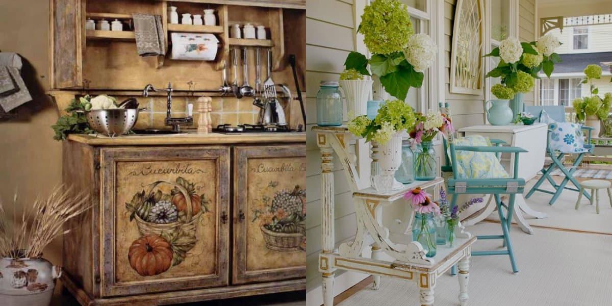 Мебель в стиле Прованс: шкаф