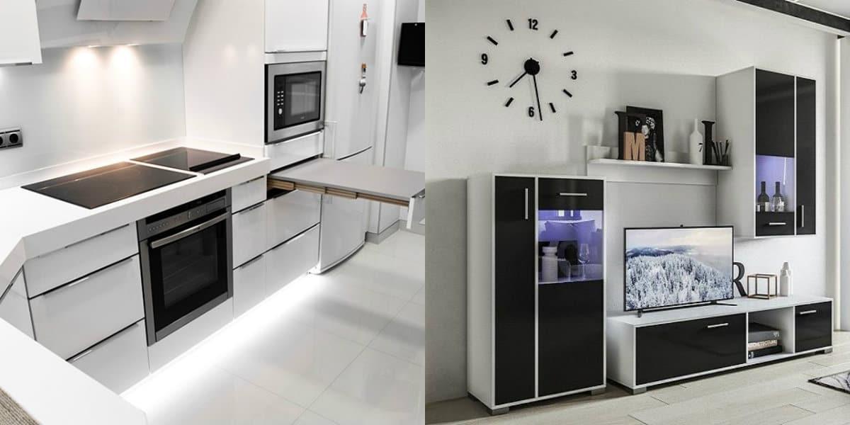 Мебель в стиле минимализм: кухня