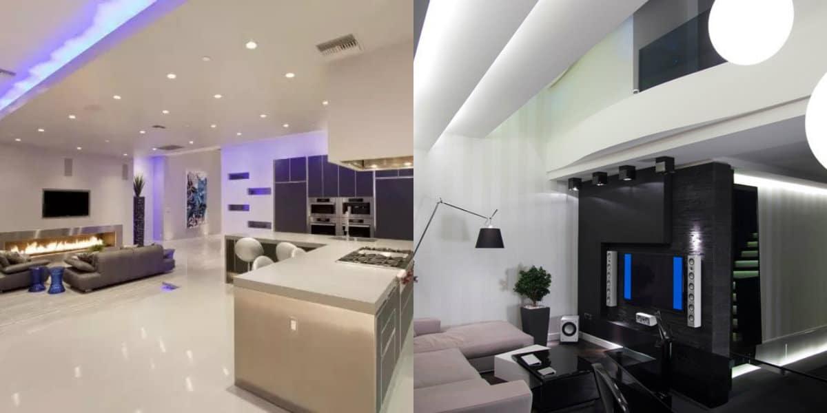 Мебель в стиле хай тек : гостиная