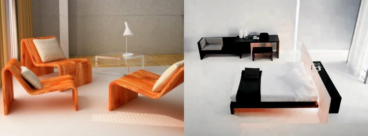 Мебель в стиле хай тек : цвет