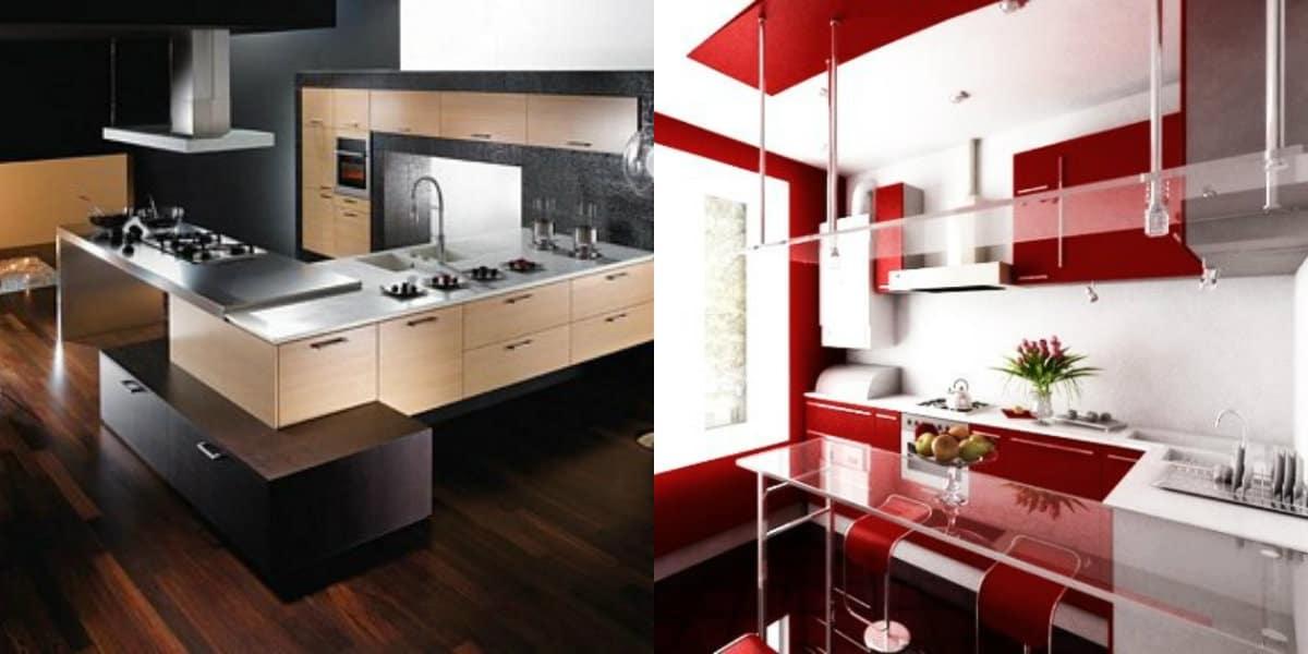 Мебель в стиле хай тек : кухня
