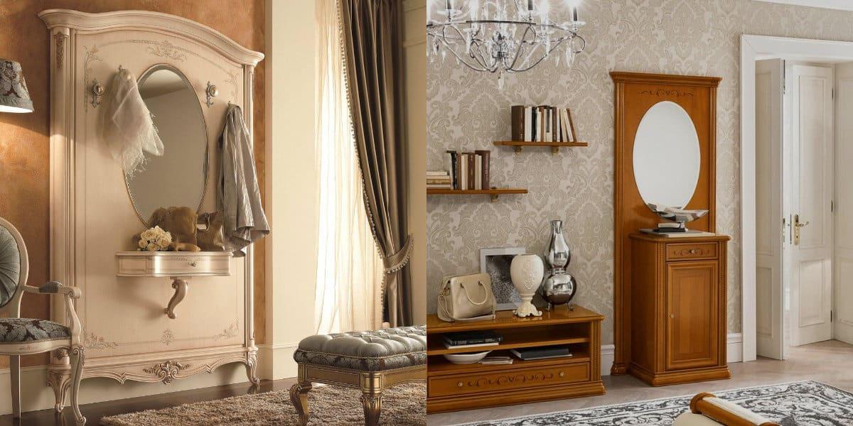 прихожая в итальянском стиле: светлая мебель