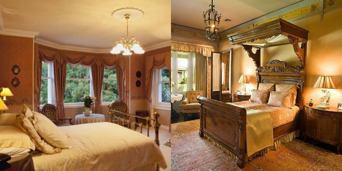 Спальня в английском стиле: цвет