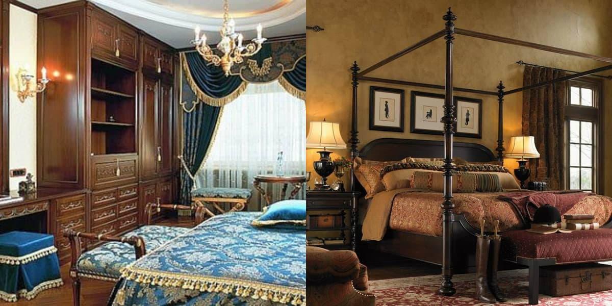 Спальня в английском стиле : викторианский стиль