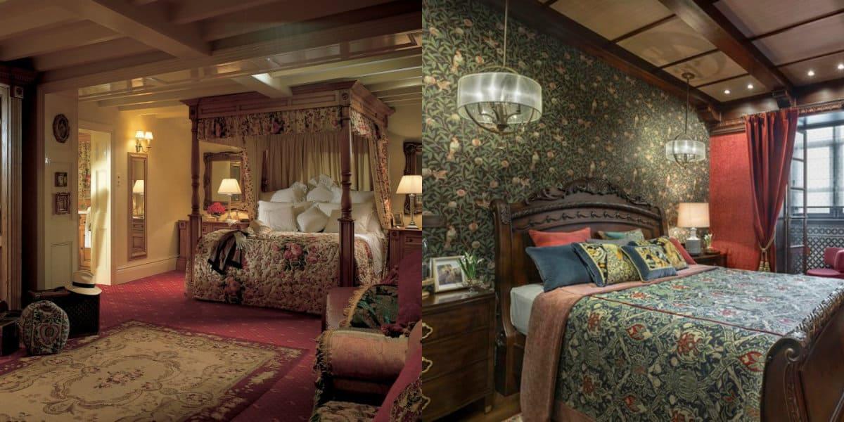 Спальня в английском стиле : отделка