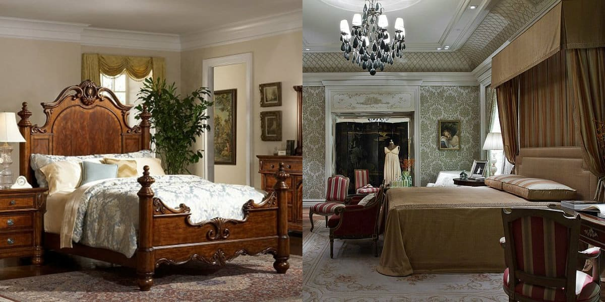 Спальня в английском стиле : мебель