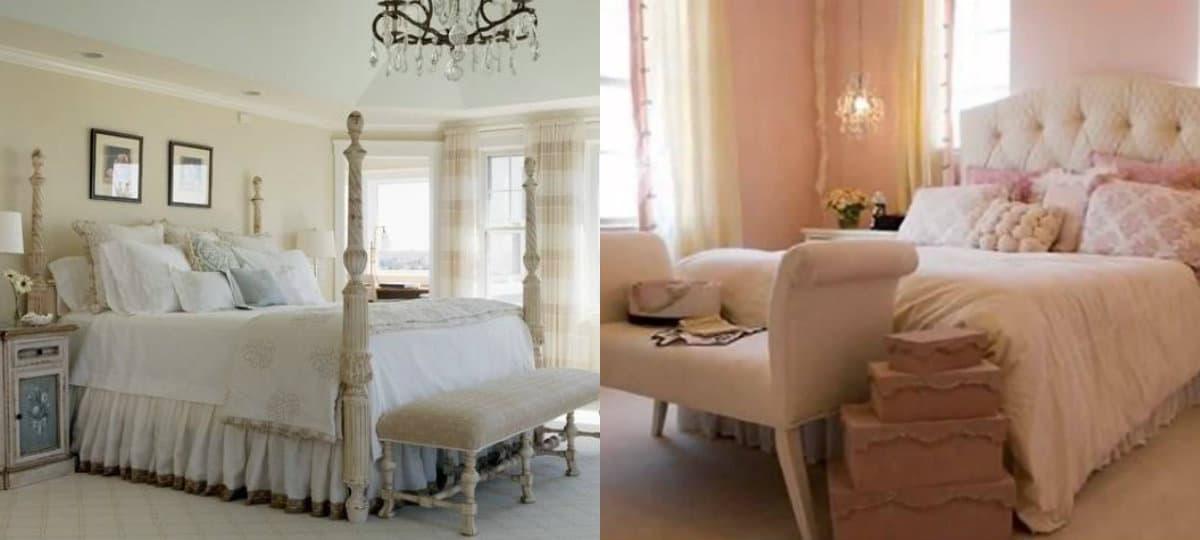 Спальня в английском стиле : шторы
