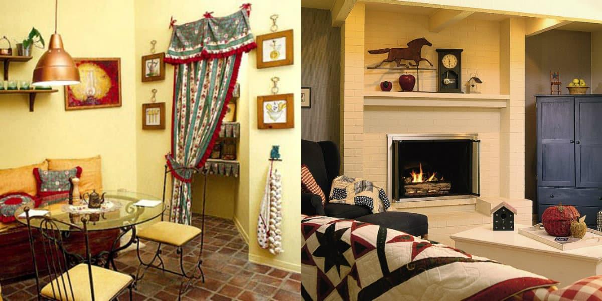 Стиль Кантри в интерьере: текстиль