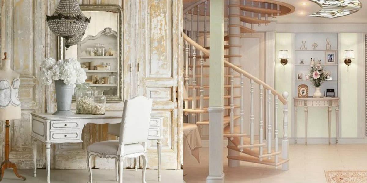 Стиль Прованс в интерьере: лестница