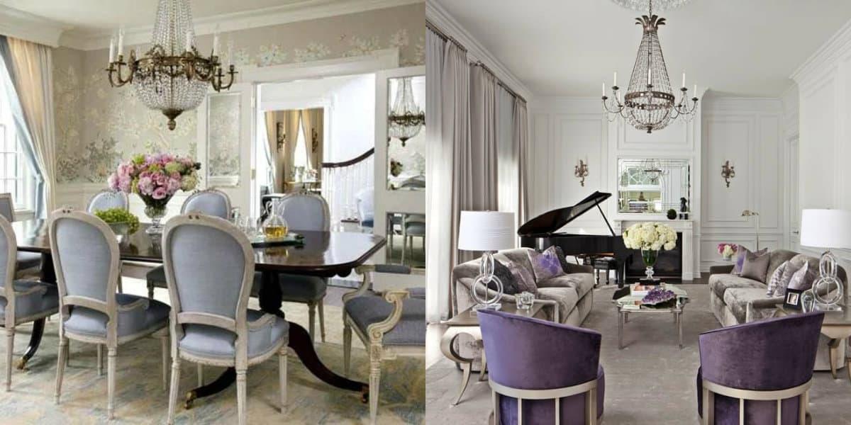 стиль Неоклассика в интерьере : мягкая мебель
