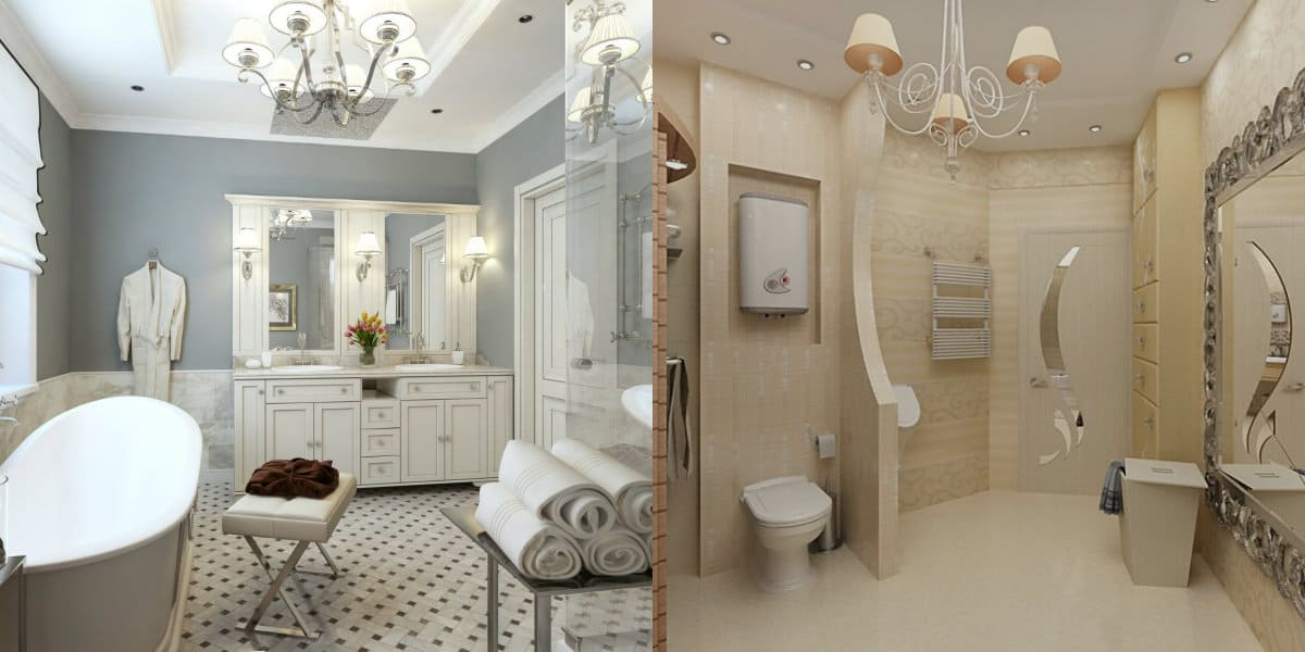 ванная в стиле неоклассика: мебель