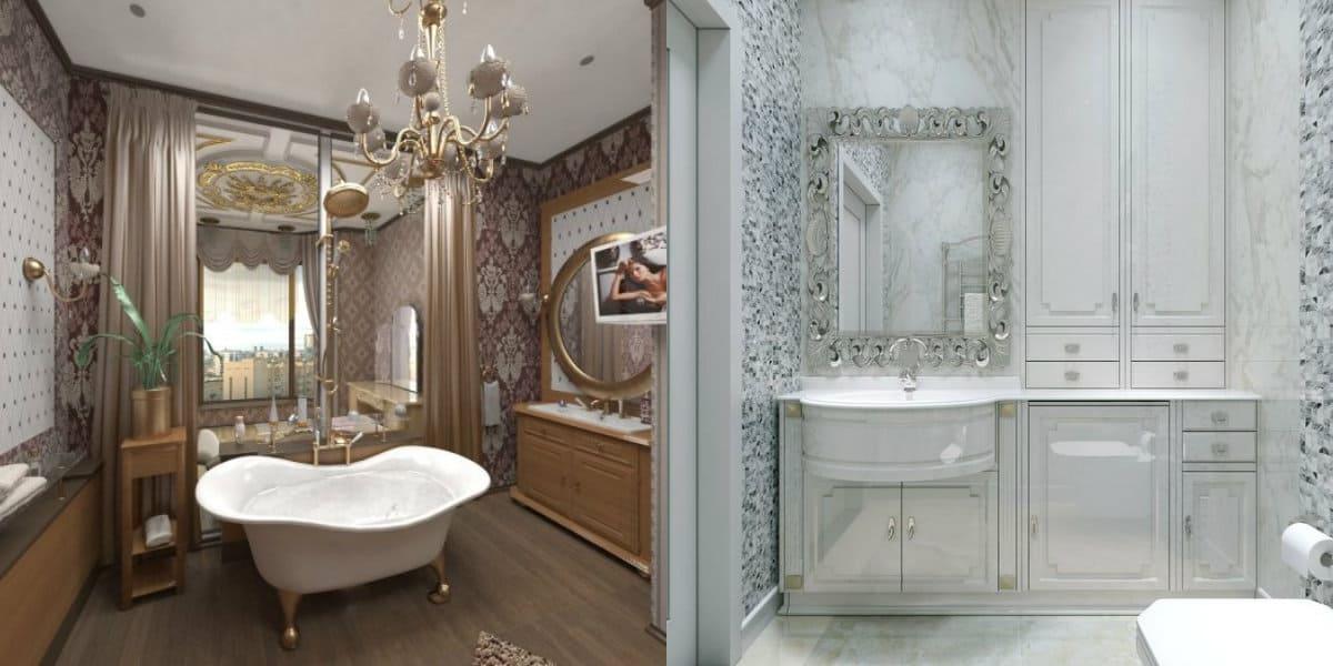 ванная в стиле неоклассика: ванная