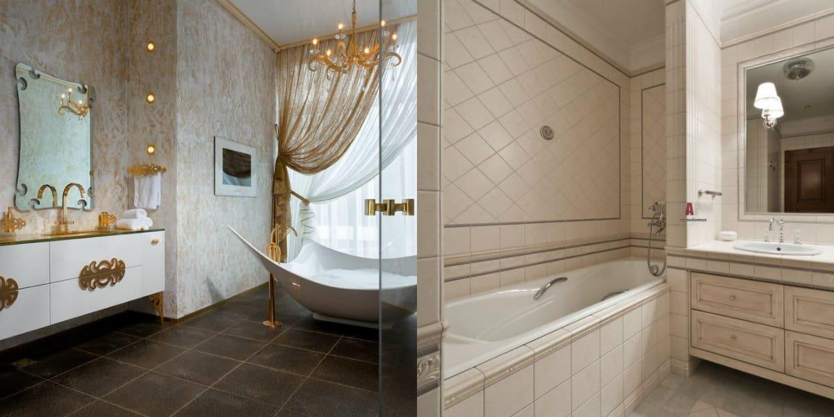 ванная в стиле неоклассика: : шторы