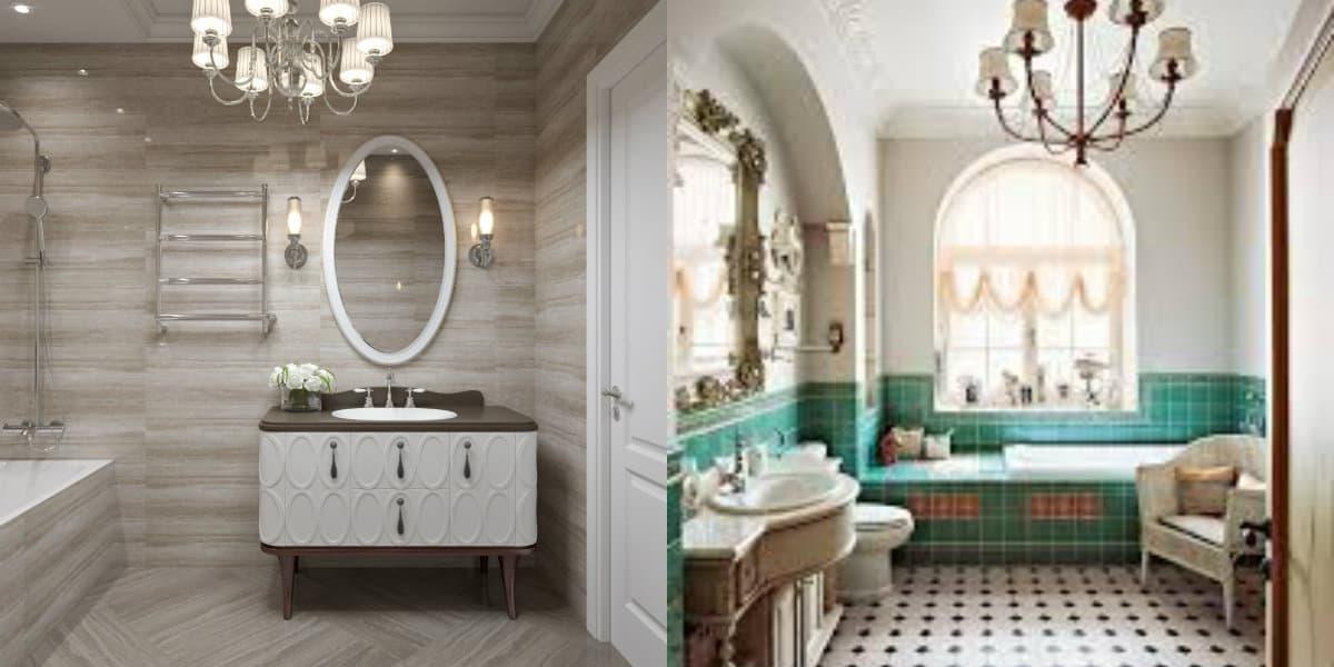 ванная в стиле неоклассика: цвет