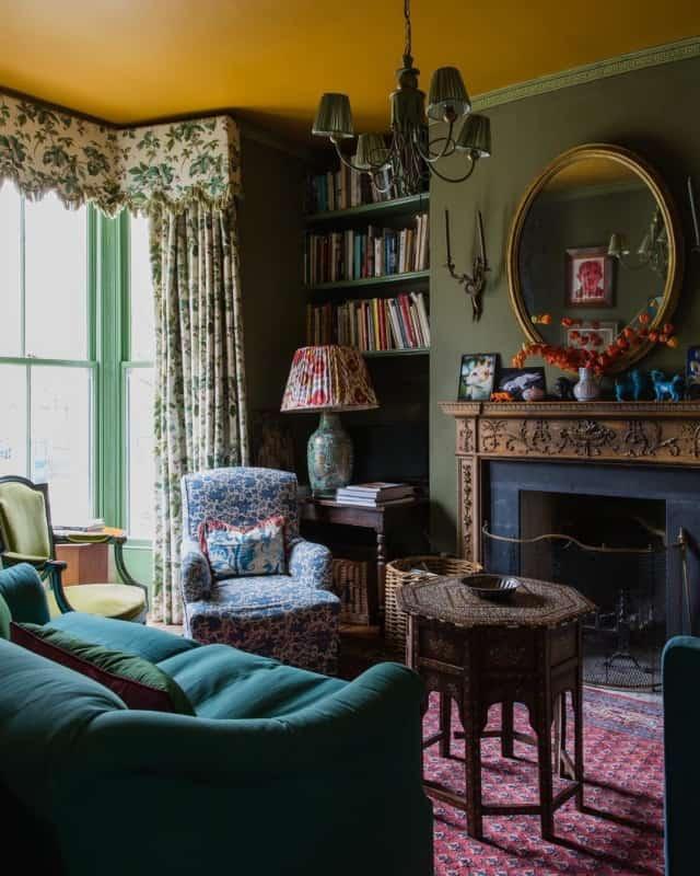 гостиная-в-английском-стиле-фото