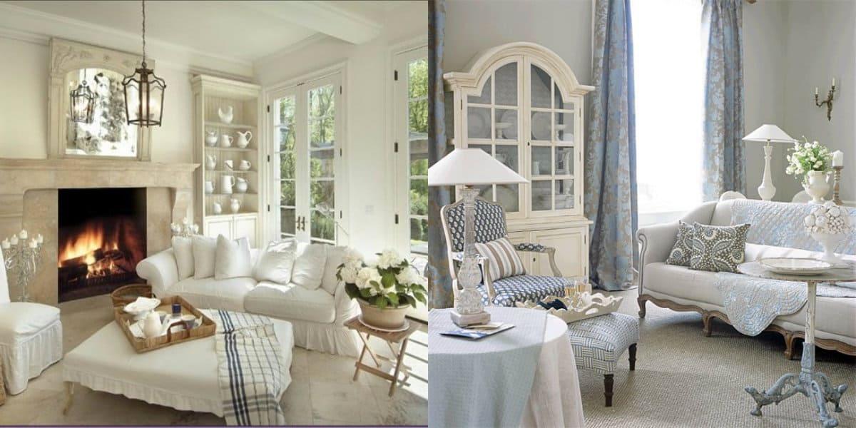гостиная в стиле Прованс: подушки