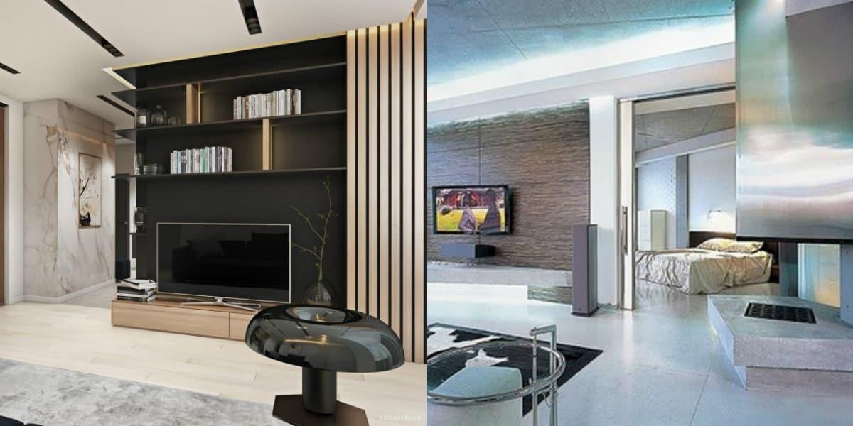 Дизайн квартиры в стиле хай тек: гостиная
