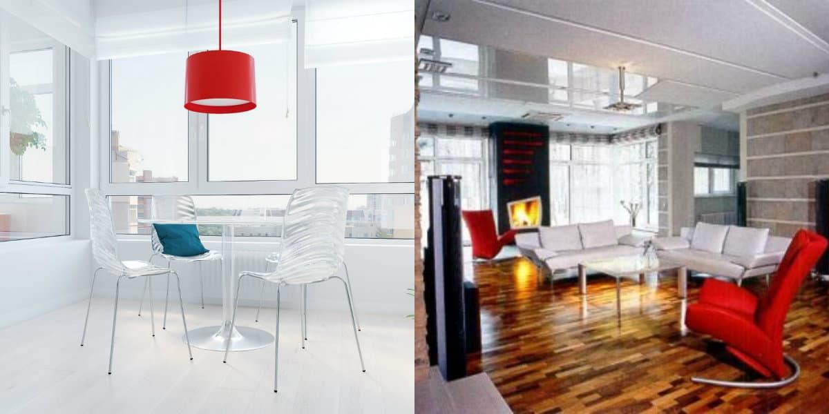 Дизайн квартиры в стиле хай тек: мебель