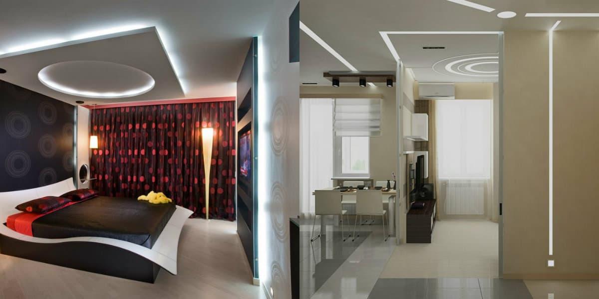 Дизайн квартиры в стиле хай тек: спальня