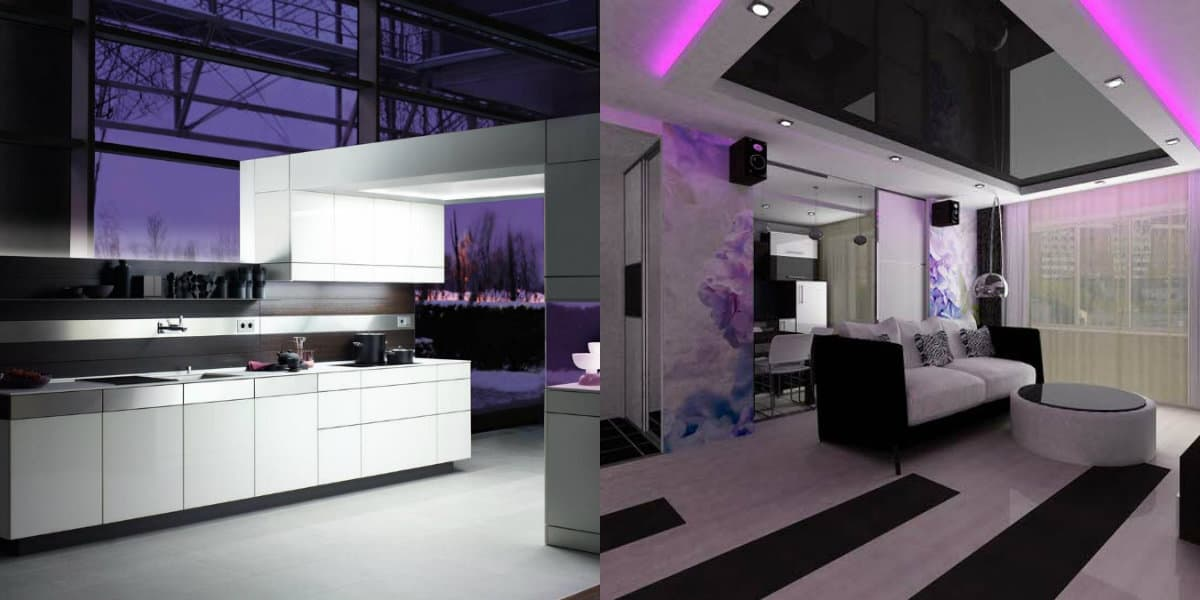 Дизайн квартиры в стиле хай тек: подсветка