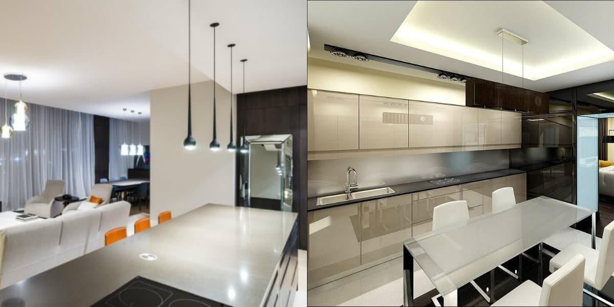 Дизайн квартиры в стиле хай тек: цветовая гамма
