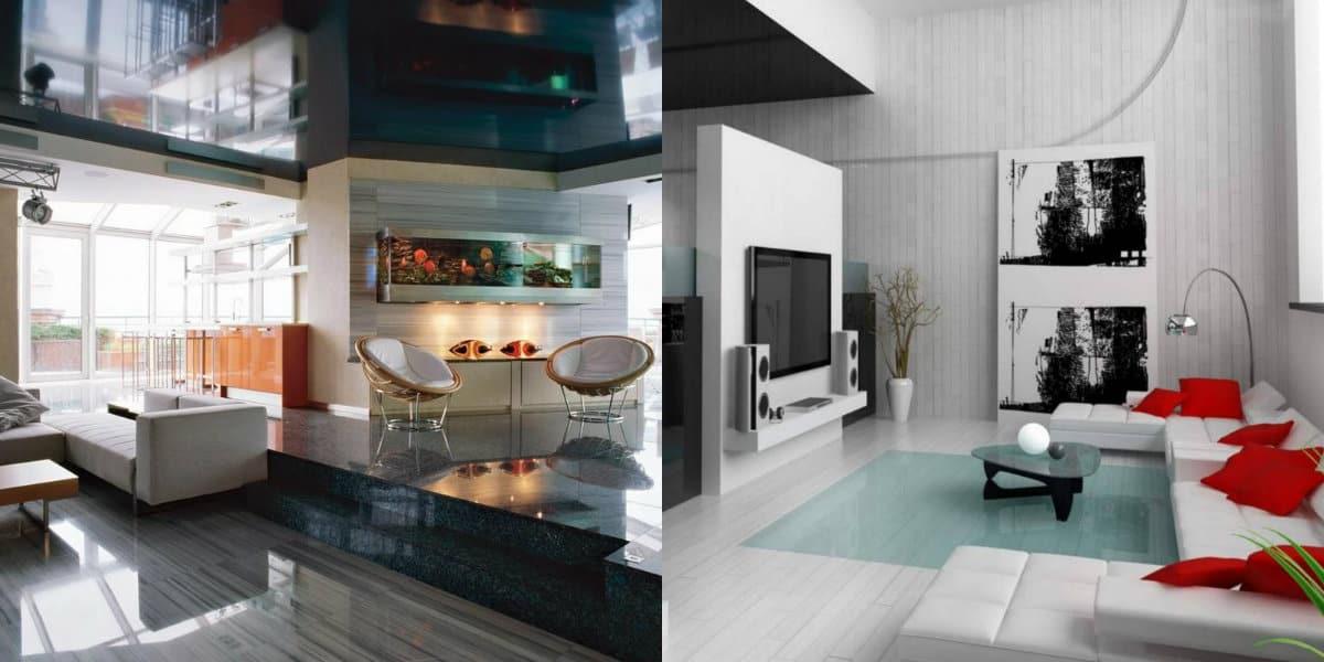 Дизайн квартиры в стиле хай тек: планировка