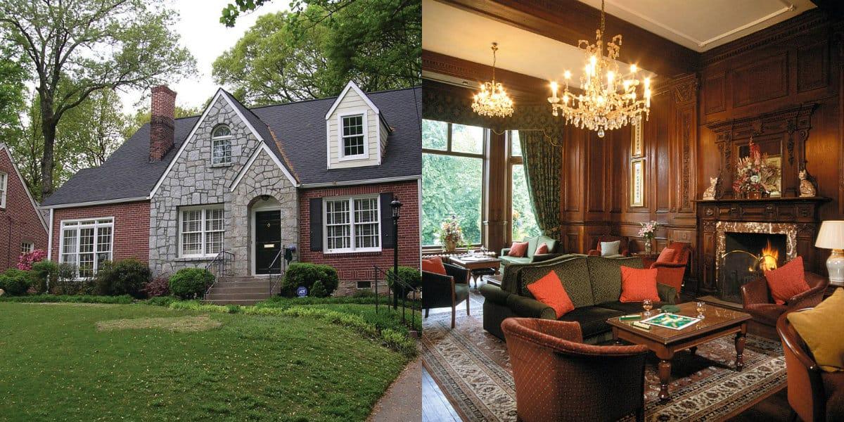 Дом в английском стиле : фасад