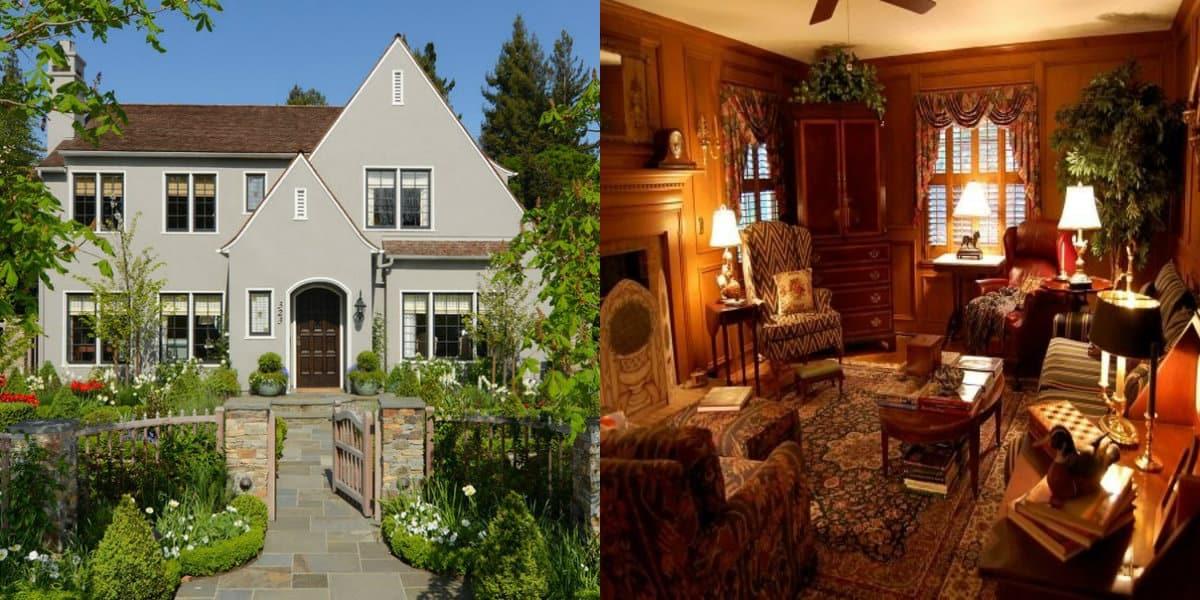 Дом в английском стиле : викторианский интерьер