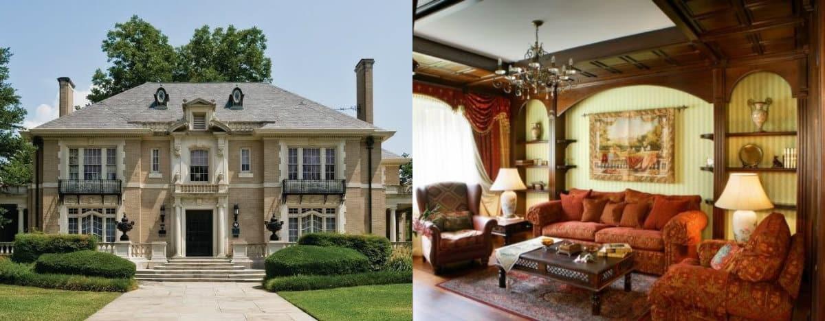 Дом в английском стиле : интерьер