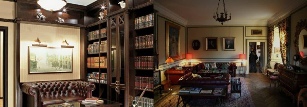 Интерьер в английском стиле: библиотека
