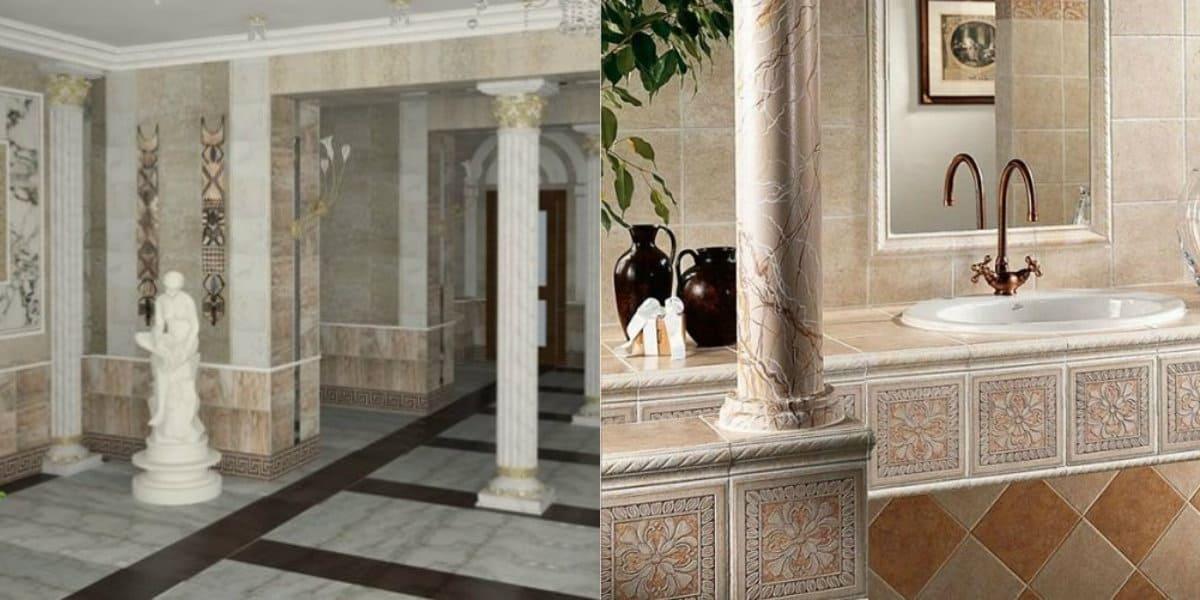 Интерьер в итальянском стиле : ванная