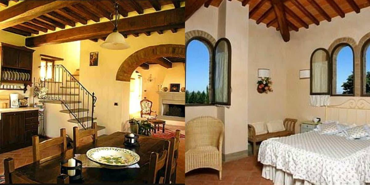 Интерьер в итальянском стиле : тосканская спальня