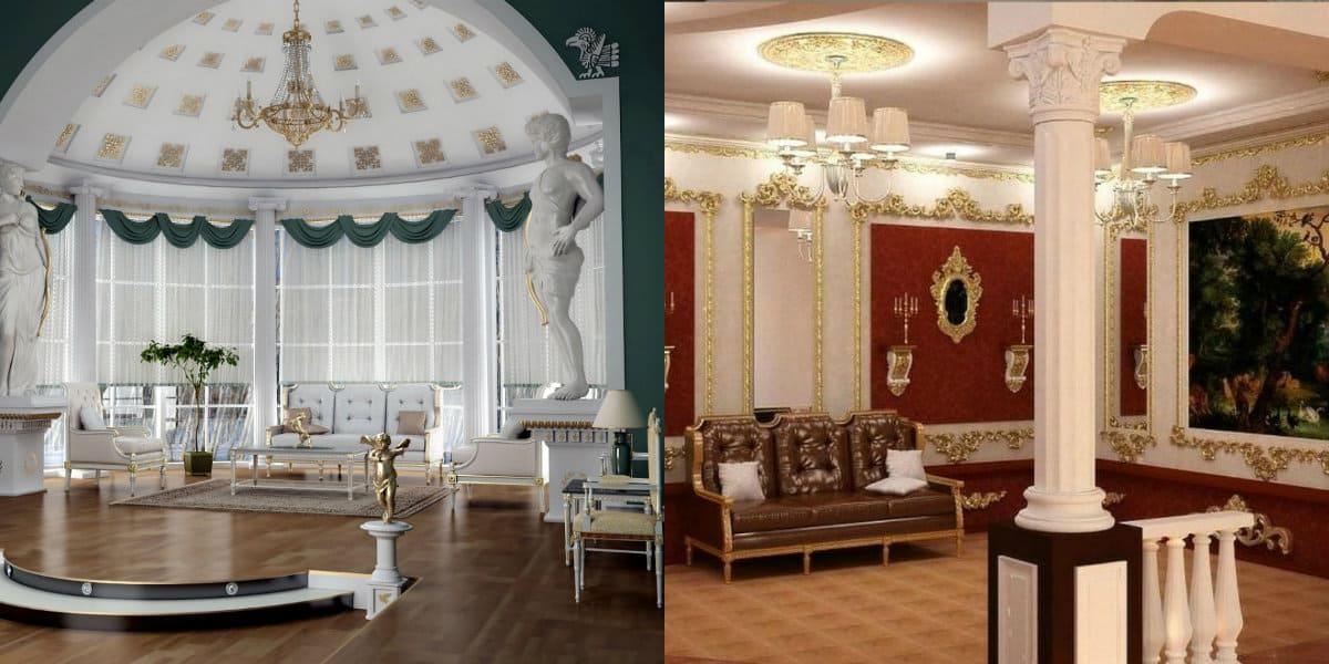 Интерьер в итальянском стиле : колонны