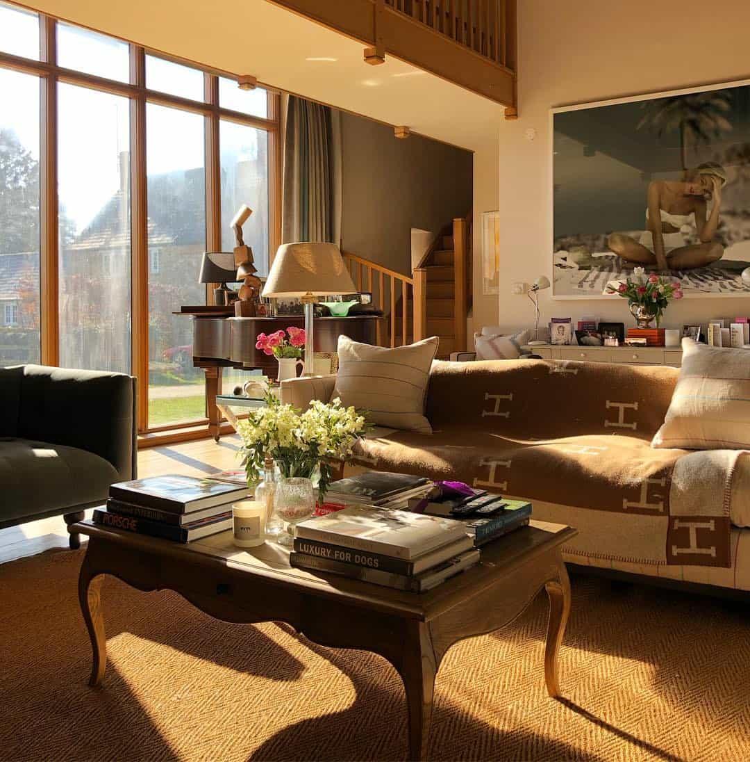 интерьер-гостиной-в-английском-стиле