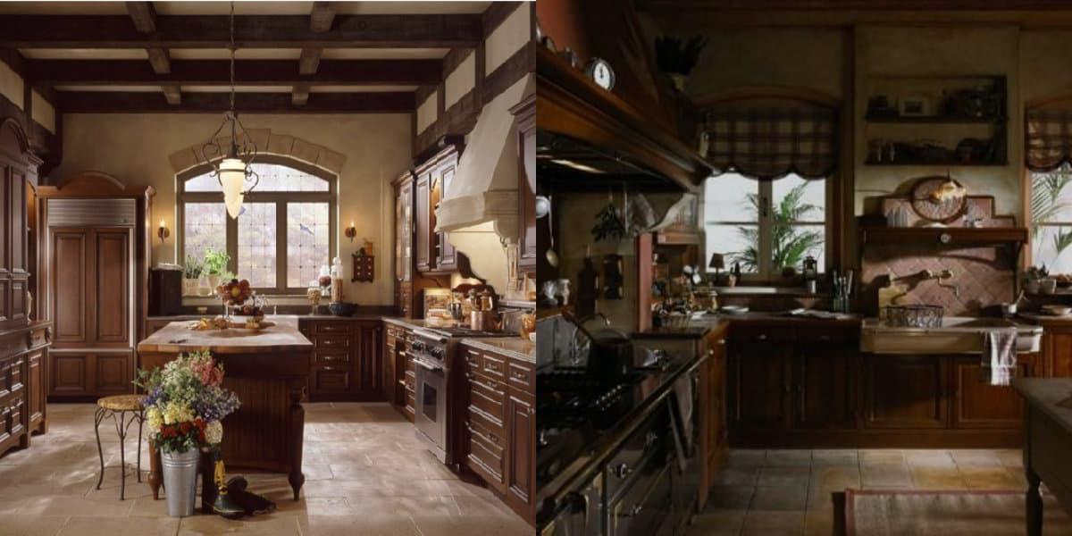 кухни в английском стиле с чертами Кантри