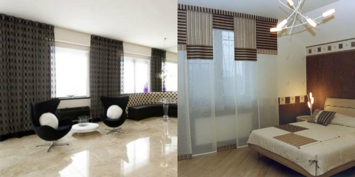 Шторы в стиле хай тек: прозрачные шторы