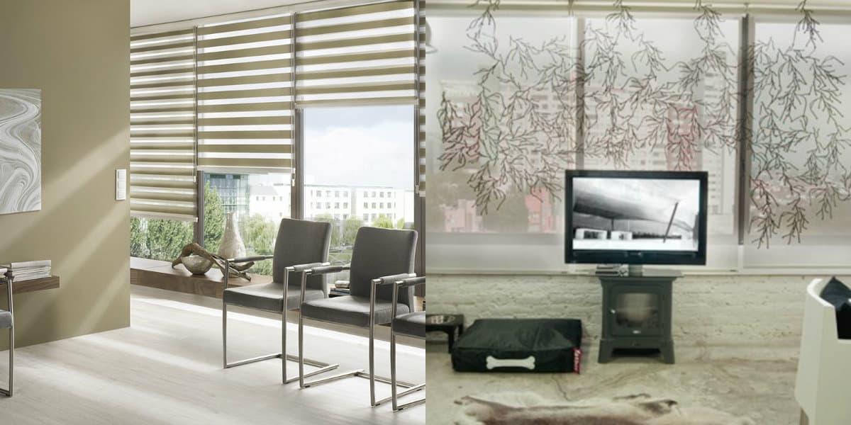 Шторы в стиле хай тек: вертикальные шторы